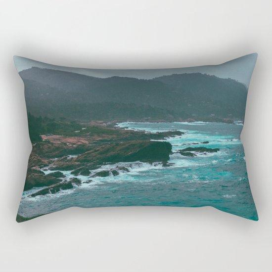 Big Sur Rocky Shore Rectangular Pillow