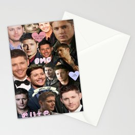 Dean Winchester/Jensen Ackles Collage Stationery Cards