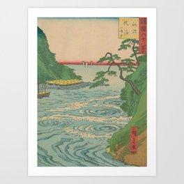 Sea. Ukiyoe Landscape Art Print