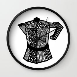 "Coffee Lovers ""Macchinetta"" Wall Clock"