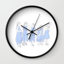 Bridesmaids (blue) Wall Clock