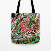 los angeles Tote Bags featuring los angeles by donphil
