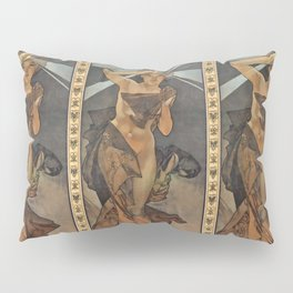 "Alphonse Mucha ""The Moon and the Stars Series: The Morning Star"" Pillow Sham"