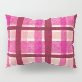 Tissue Paper Plaid - Pink Pillow Sham