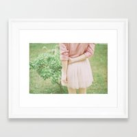peach Framed Art Prints featuring Peach by Mariam Sitchinava