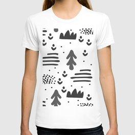 Sandinavian absract art T-shirt