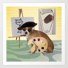 Zee Arteest! Art Print