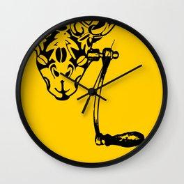Coffee Giraffe Wall Clock