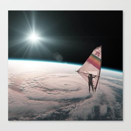 Well on the way, head in a cloud Canvas Print