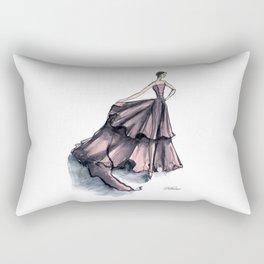 Audrey Hepburn in Pink dress vintage fashion Rectangular Pillow