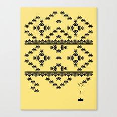 Invasion Pattern Canvas Print