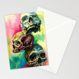 Colorful Skulls Stationery Cards