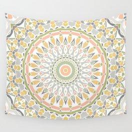 Spring Flower Mandala Wall Tapestry