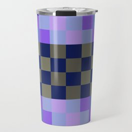 Blue Sky With A Cloud In Pixel Travel Mug