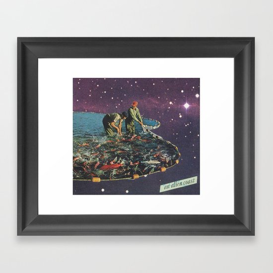 an alien coast Framed Art Print