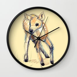 Wobbly Deer Wall Clock