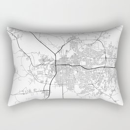 Minimal City Maps - Map Of Montgomery, Alabama, United States Rectangular Pillow