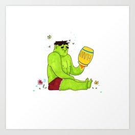 Hulk inna hunnypot Art Print