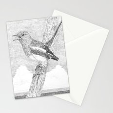 Tweeting a Message Stationery Cards