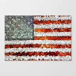 American Flag Abstract Canvas Print