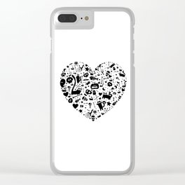Halloween Heart Clear iPhone Case