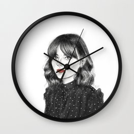 Be as bold as your Lipstick Wall Clock