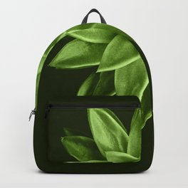 Greenery succulent Echeveria agavoides flower Backpack