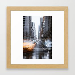 Streets as grey as my mood Framed Art Print