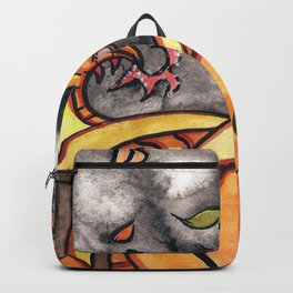 Halloween Pumpkin Dragon Backpack