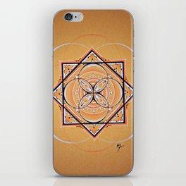 Orange Seed Mandala iPhone Skin