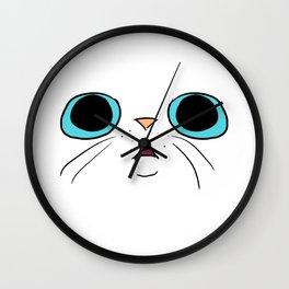 Cat Face 3 Wall Clock
