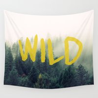 into the wild Wall Tapestries featuring Wild by Allie Geise