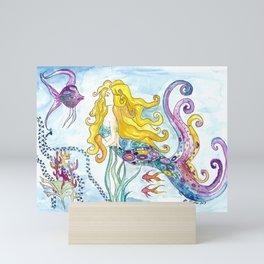 The Blonde Mermaid Mini Art Print