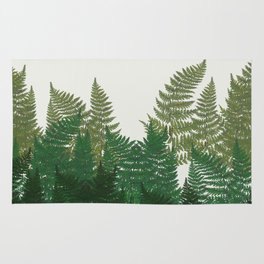 leaves forest Rug