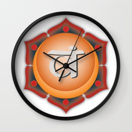 Sacral Chakra w description Wall Clock