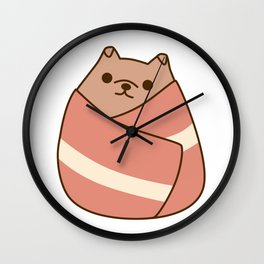 Pupsheen Wrapped in Bacon Wall Clock