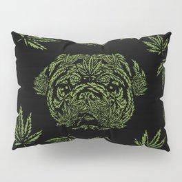 Marijuana of Pug Pillow Sham