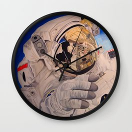 Astronaut in space, man. Wall Clock