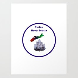Pictou Nova Scotia Design Art Print