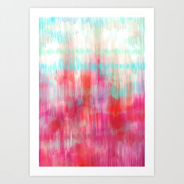Color Song - abstract in pink, coral, mint, aqua Art Print