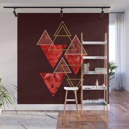 Red Fall #society6 #decor #buyart Wall Mural