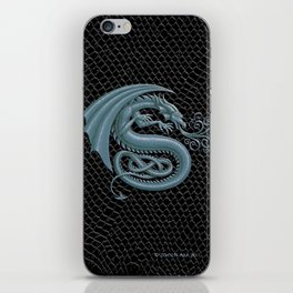 """Dragon Letter S, from """"Dracoserific"""", a font full of Dragons iPhone Skin"""