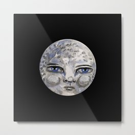 Luminous Moon - Painting Metal Print