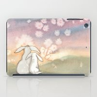 fairies iPad Cases featuring Sunset Fairies by Bluedogrose