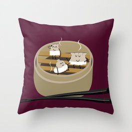Steam room Throw Pillow