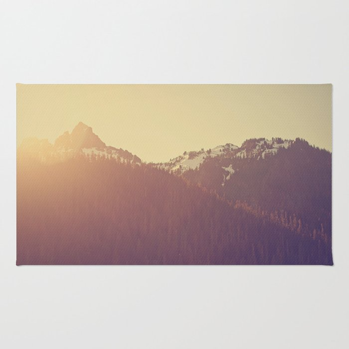 Sunrise over the Mountains Rug