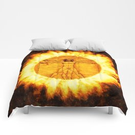 Fire of the Vitruvian Man by PB Comforters