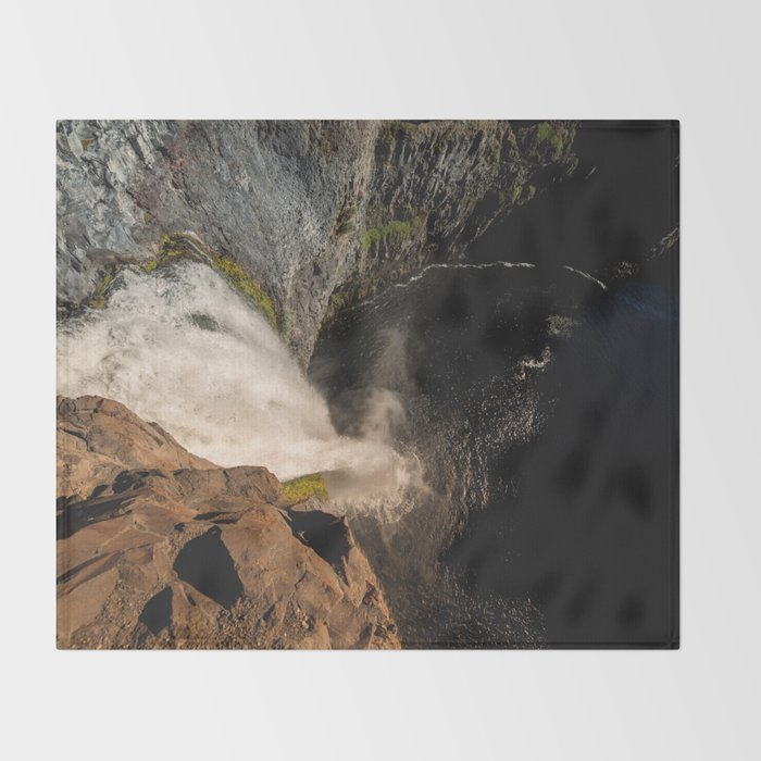 Fear of Heights - Palouse Falls Throw Blanket