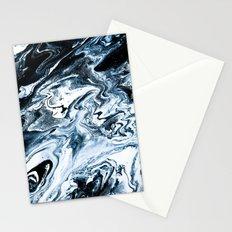 M A R B L E - dark blue & white Stationery Cards