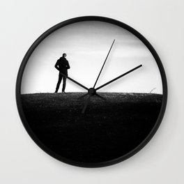 The longing | Posing on the hill Wall Clock